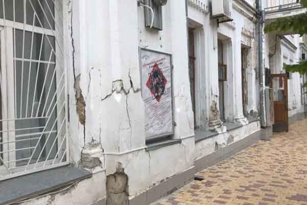 В оккупированном Симферополе разваливается здание Крымской филармонии