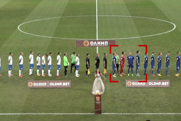 Молился: украинский футболист пояснил, почему отвернулся от российского флага