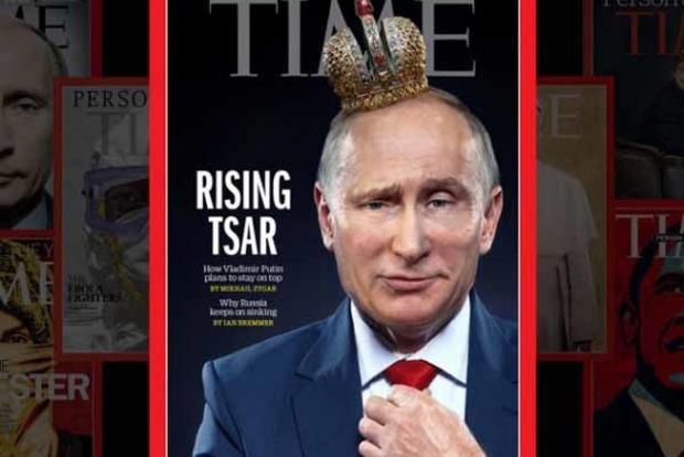 Time «короновал» Путина, поместив его фото на обложку