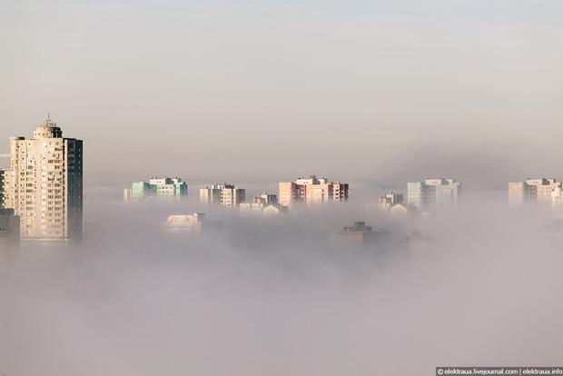 Киевлян предупредили о сильном тумане