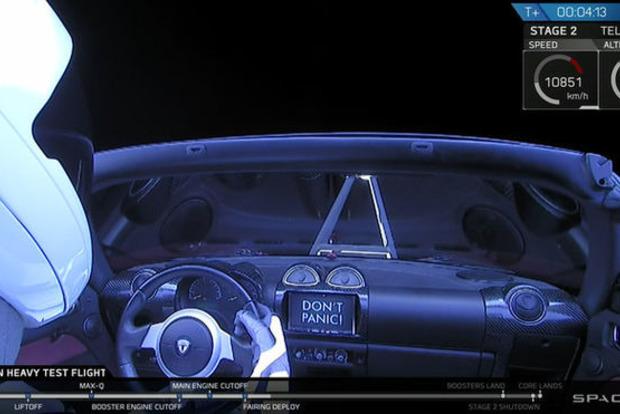 Tesla Маска будет летать вокруг Солнца под песню Дэвида Боуи