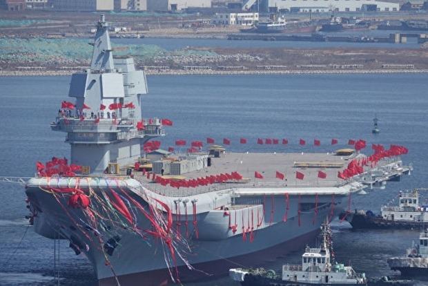 Китай сегодня спустил на воду первый авианосец собственного производства