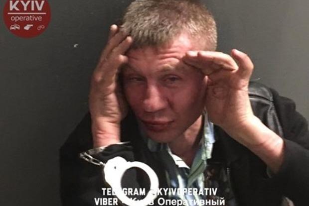 Полиция задержала человека, ранившего охранника в киевськом супермаркете. Видео