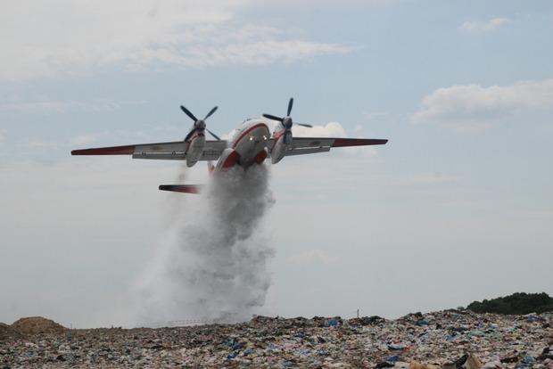 Пожар на свалке около Львова ликвидирован