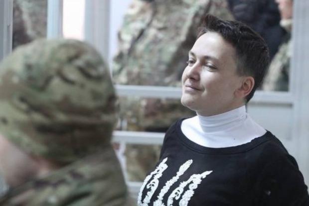 Савченко жалуется на видеонаблюдение в камере СИЗО