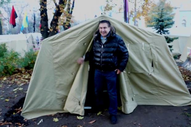 Брудний Саакашвілі хотів захопити готель Київ, щоб помитися