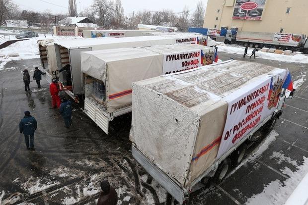 В Донецке и Луганске разгрузили российский «гумконвой»
