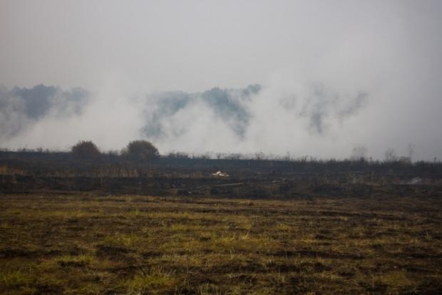В Киевской области продолжают тлеть торфяники на площади более 100 га
