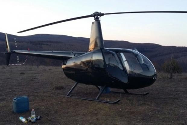 На Закарпатье задержали вертолет, переправляющий мигрантов