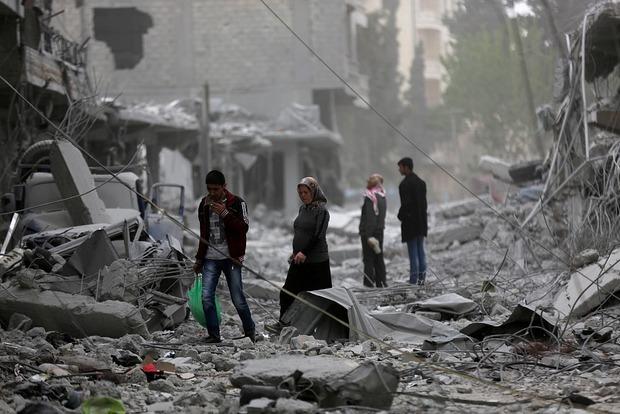 Алеппо обстрелян химическими снарядами, более ста пострадавших