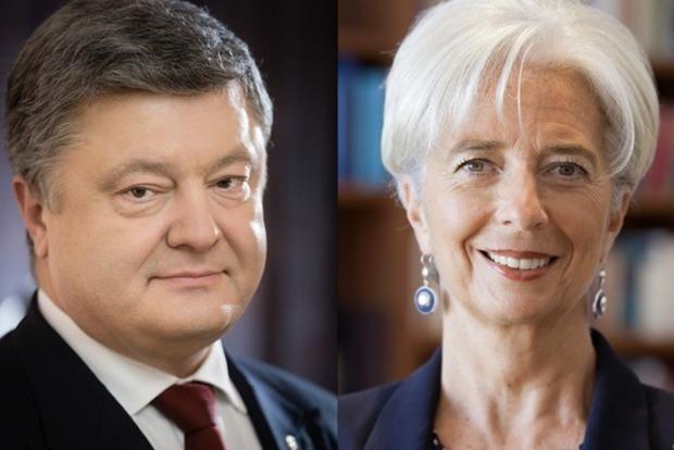 Порошенко поговорив з главою МВФ про українські реформи