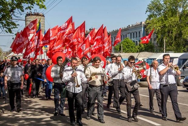 В Днипре произошел конфликт между представителями профсоюзов и «социалистами»