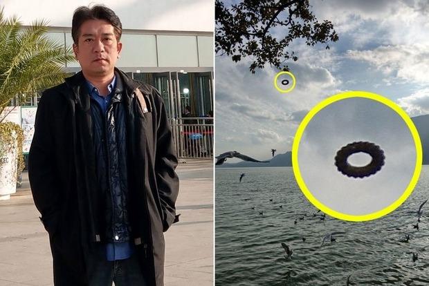 Турист зафиксировал НЛО в виде пончика в Китае