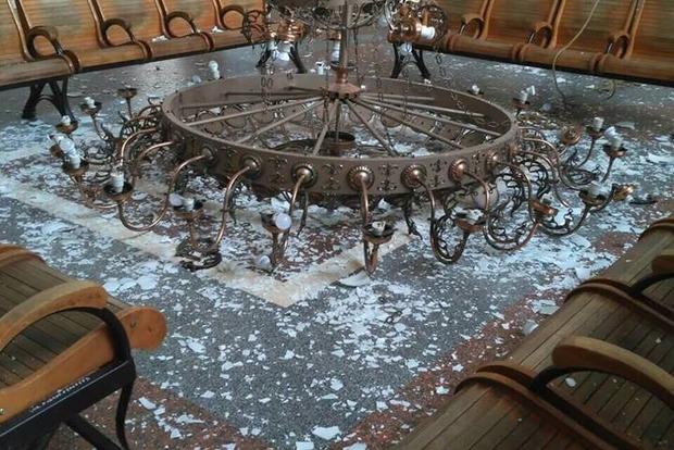 Навокзале вХерсоне упала люстра