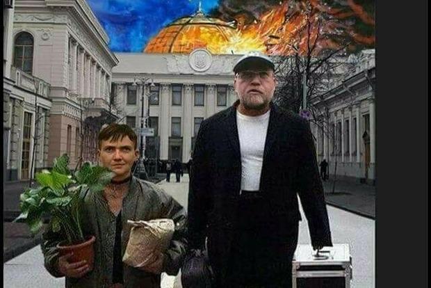 Надежда Савченко попала в чистилище сайта Миротворец