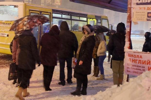 Водители маршруток устроили забастовку в Борисполе