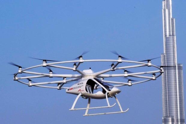 В Дубае прошли испытания первого в мире летающего беспилотного такси