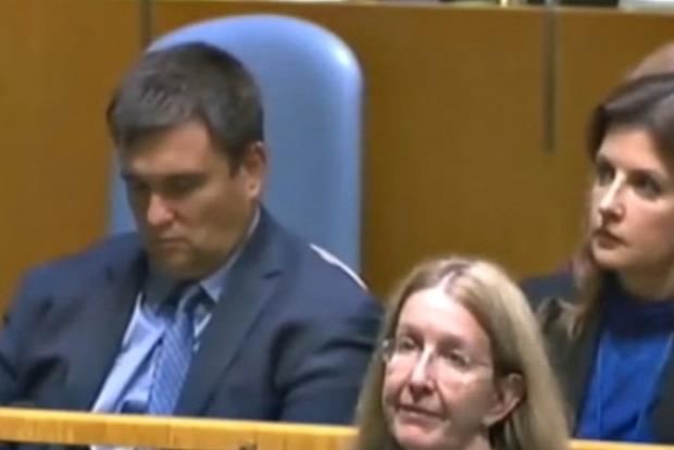 Климкин вздремнул во время выступления Порошенко в ООН