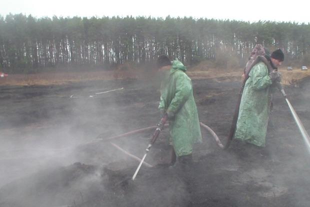 В Полтавской области тлеет более 90 гектаров торфяников