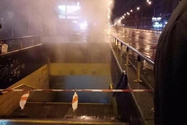 На Соломенке в Киеве кипятком залило подземный переход
