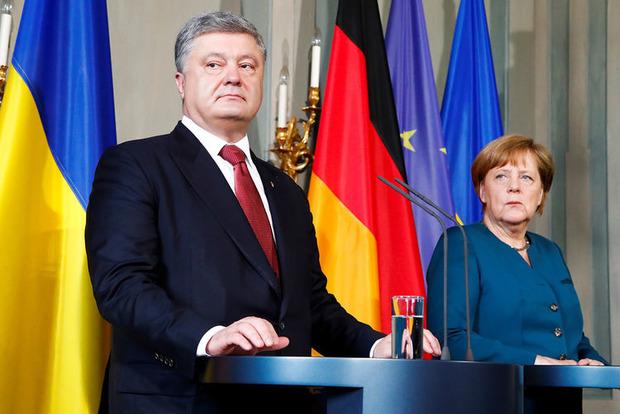 Дожимать Россию: Порошенко рассказал, о чем договорился с Макроном и Меркель