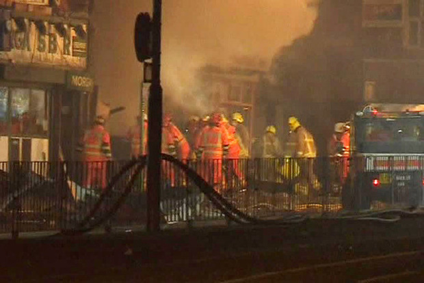 Мощный взрыв в британском Лестере, пострадали люди