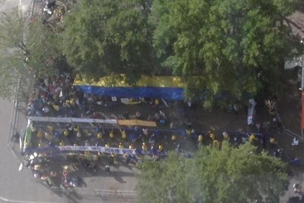 В Нью-Йорке протестуют против агрессии России в Украине