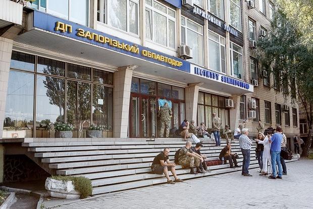 Ветераны АТО объявили бессрочный протест возле Госгеокадастра в Запорожье