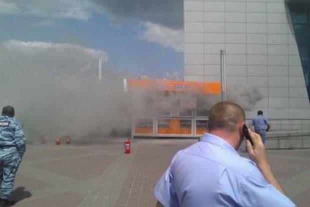 В Киеве произошел пожар на рынке, есть пострадавшие
