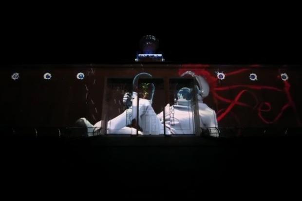 Появилось потрясающее видео светового шоу с Kyiv Lights Festival
