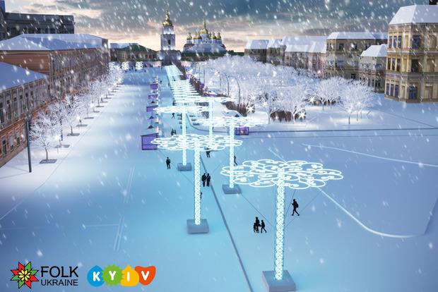 У Києві в суботу почнеться підготовка до Нового року: центр перекриють