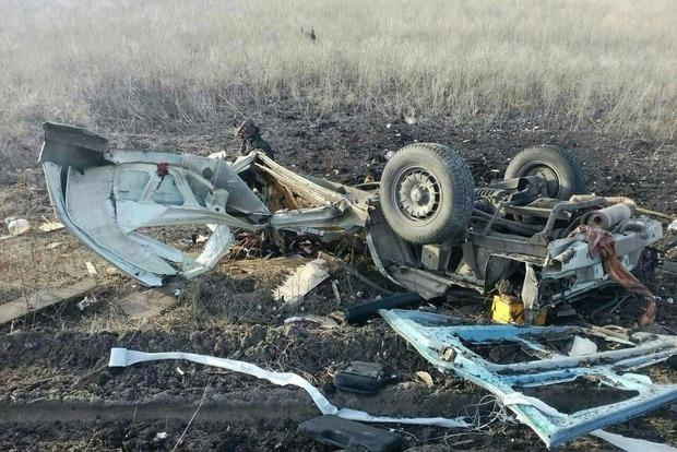 Штаб АТО: Подрыв автобуса в Марьинке – это попытка боевиков создать гуманитарную катастрофу