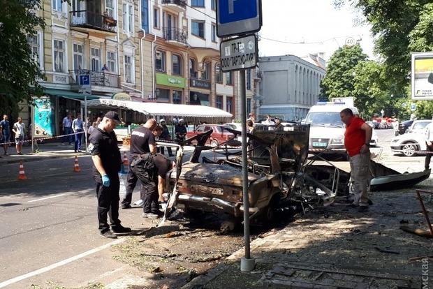 Около офиса организации, близкой кмэру Одессы, взорвался автомобиль