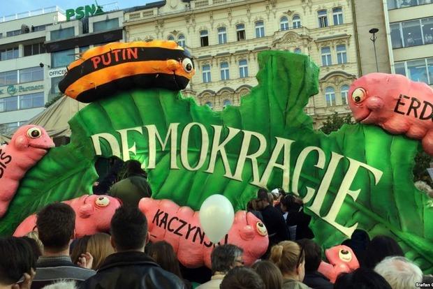 В Чехии снова прошли антиправительственные протесты