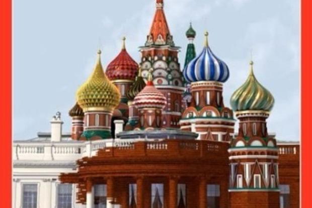 Журнал Time показал, как Белый дом поглощает Кремль