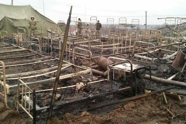 В Житомирской области горел палаточный военный городок