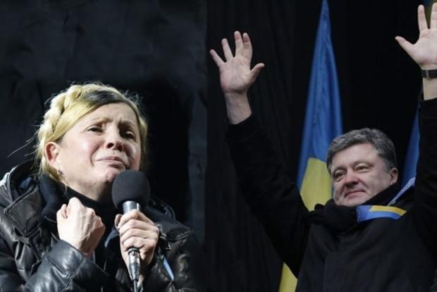 Тимошенко и Порошенко лидируют в президентском рейтинге с незначительным отрывом