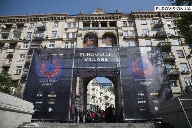 Кличко открыл городок Евровидения Eurovision Village на Крещатике