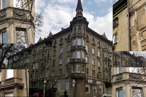 Власти Днипра начали зачистку исторических зданий от кондиционеров и спутниковых тарелок