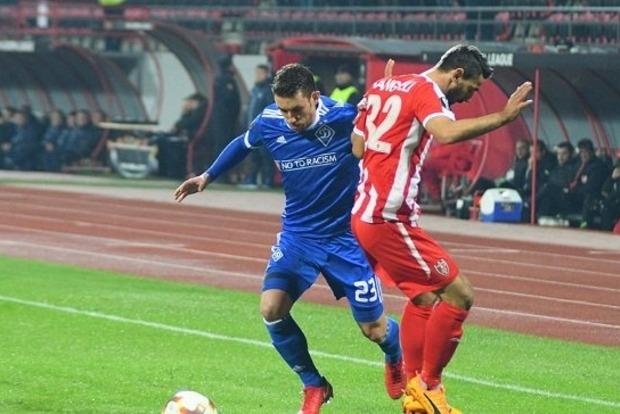 «Динамо» проиграло «Скендербеу» в Лиге Европы