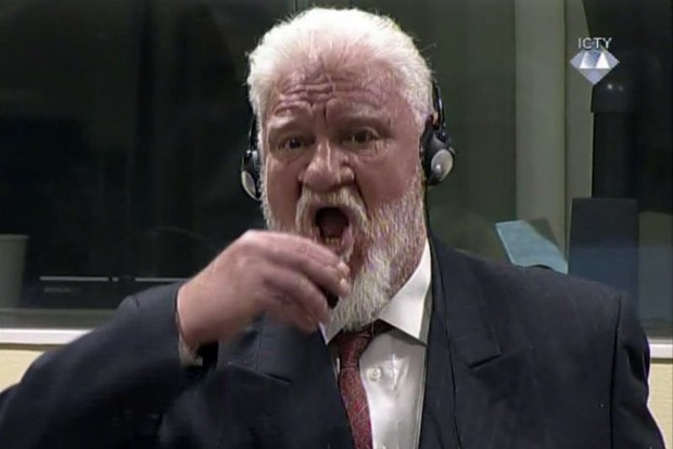 Хорватский генерал, выпивший яд в Гаагском суде, выжил