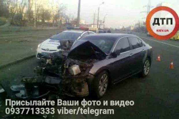 В Киеве водители устроили гонки с перестрелкой