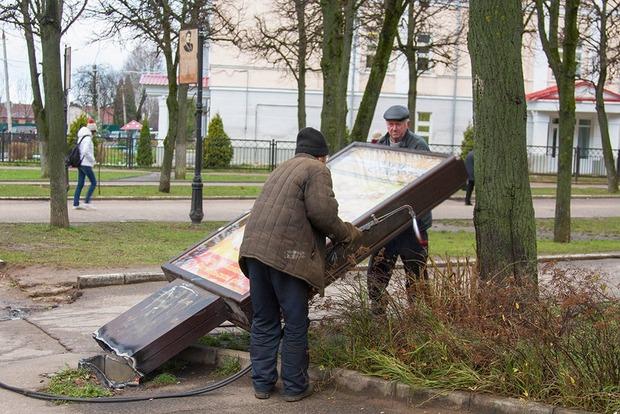 В 2016 году в Киеве было демонтировано более 5 тыс. рекламных конструкций