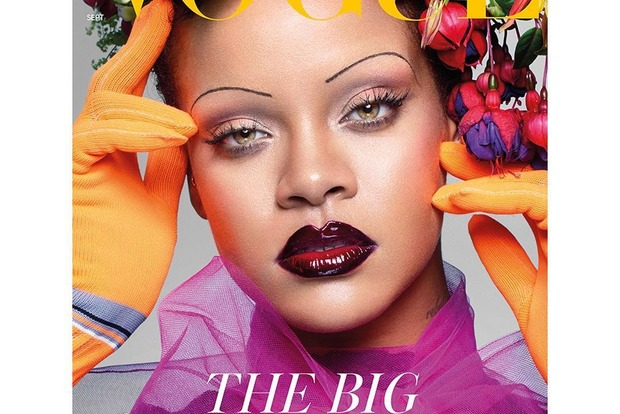 Эстрадная певица Рианна снялась вяркой фотосессии для английского Vogue