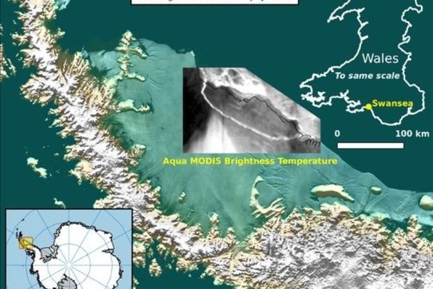Огромный айсберг площадью 6 тыс. квадратных км откололся от Антарктиды