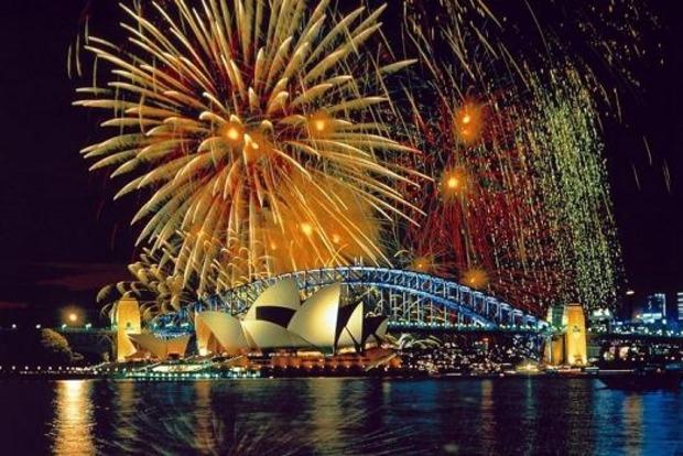 В Австралии Новый год наступил под один из самых больших в мире фейерверков