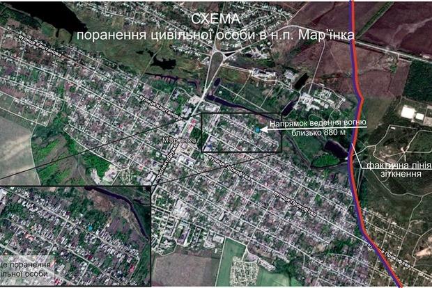 Боевики пренебрегают безопасностью: в районе Марьинки ранен мирный житель