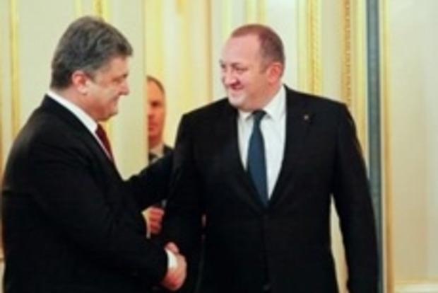 Порошенко и Маргвелашвили уверены в восстановлении целостности Украины и Грузии