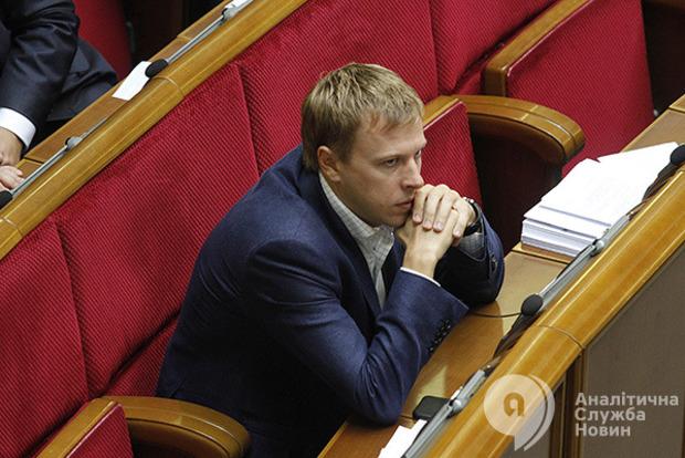 Хомутынник покидает пост руководителя депутатской группы Партия Відродження