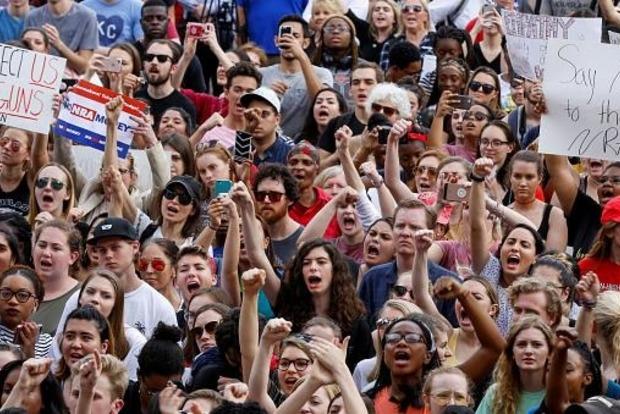 В Вашингтоне прошел многотысячный марш за ограничение продажи оружия